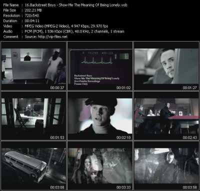 Backstreet Boys - Show Me The Meaning Of Being Lonely - Download Music Video Clip from VOB ...