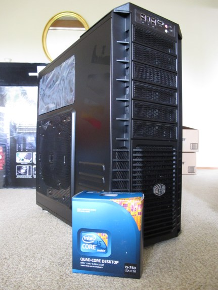 The case is huge! CPU box there for reference.