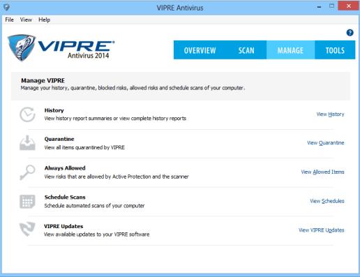VIPRE Antivirus Yönetim Paneli