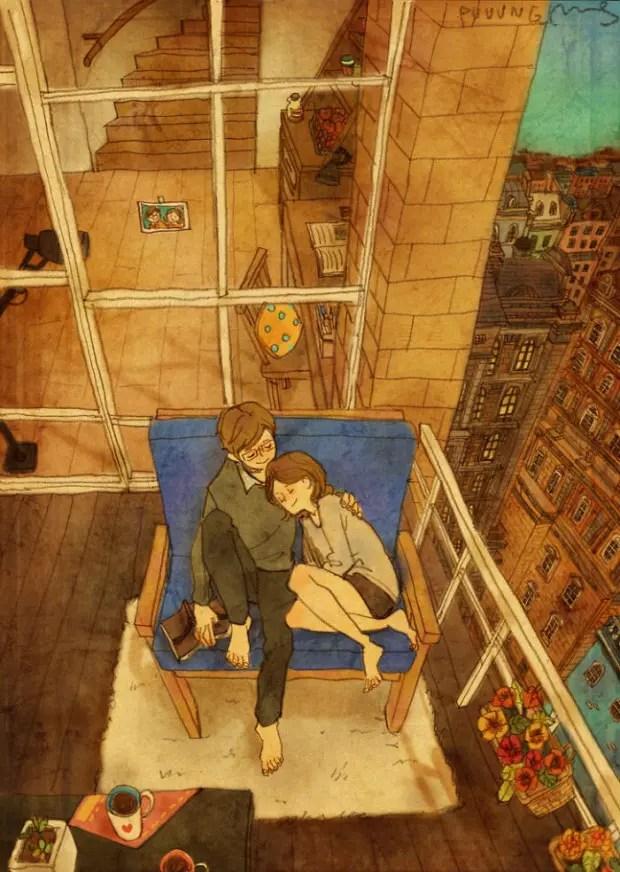 amor-detalles-Puuung-artista-ilustraciones-balcon