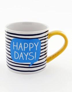 White Happy Jackson Happy Days Mug Mugs Tumblers Kitchen House Virgin Megastore Owl Shaped Coffee Mugs