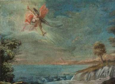 Paesaggio con angelo