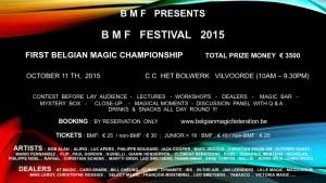 Festival de la Belgian Magic Federation 2015 @ CC Het Bolwerk, VILVOORDE | Vilvoorde | Vlaanderen | Belgique