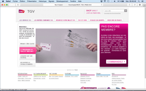 fausse page SNCF