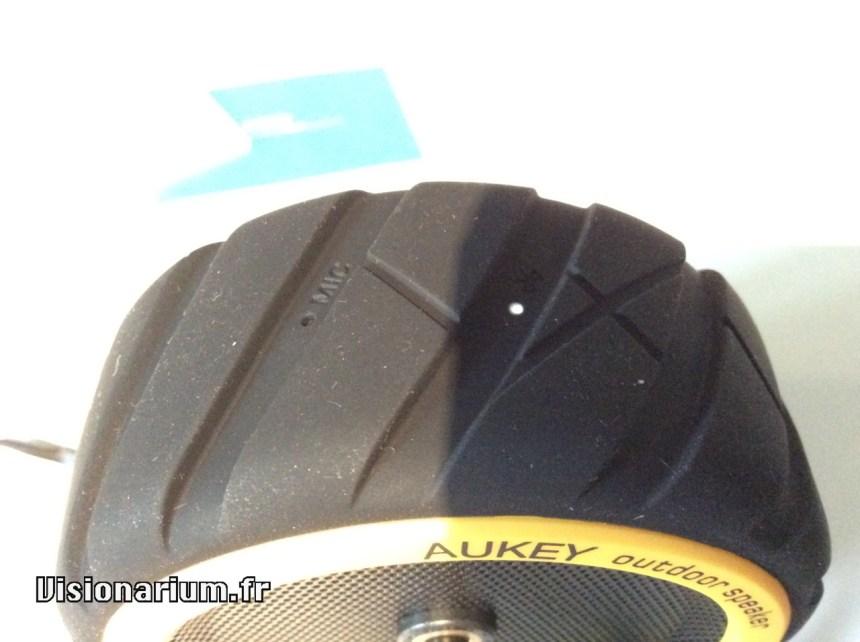 Enceinte BT Aukey SM-m4, vue boutons