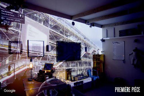 Projection vidéo en mapping dans la Première pièce de Google France
