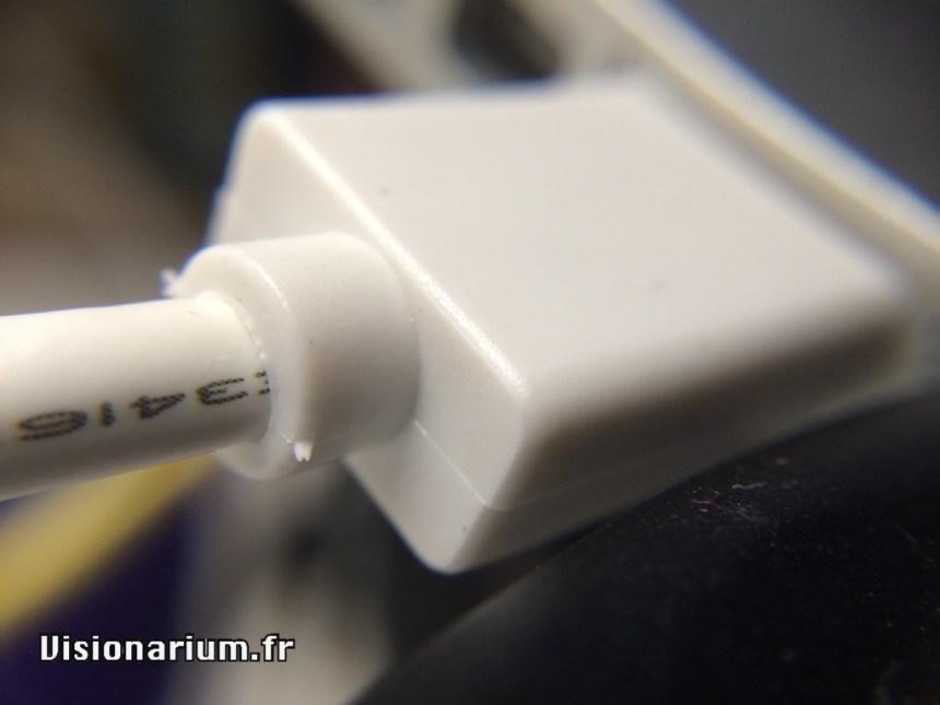 Gros plan sur le connecteur USB 3.