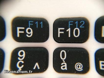 Ils étaient un peu à l'étroit pour les touches F11 et F12.