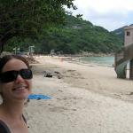 Chillin' out at Sai Kung Clear Water Bay beach