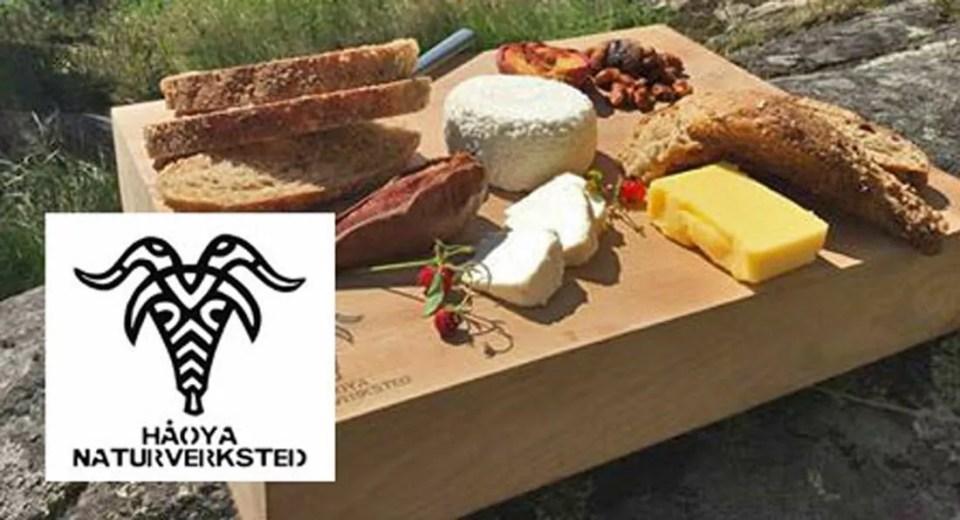 På Håøya kan du prøvesmake og handle lokalprodusert ost og brød.