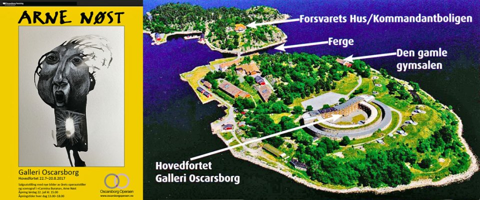 Galleri Oscarsborg drives i regi av Avistegnernes Hus i Drøbak.