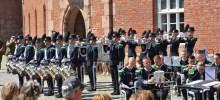 HMKs Garde har en verdenskjent drilltropp. Foto: Forsvarsbygg / Oscarsborg.