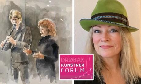 Tegningen av de to som spiller er av billedkunstner Rolf Gulbrandsen. Hatten er laget av kunsthåndverker/hattedesigner Irene Myrbostad.