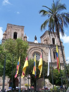 The beautiful cathedral seen from the main square