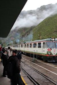 Taking our Train, Inca rail from  Ollantaytambo to Aguas Calientes.Peru