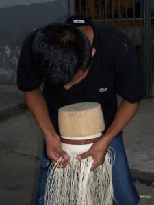 The renowned Panama Hats, in the making, in Montecristi, Manabi. The Sun Route in the Coastal Region of Ecuador © Carmen Cristina Carpio Tobar