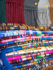 Colorful textiles Otavalo, Ecuador © Carmen Cristina Carpio Tobar