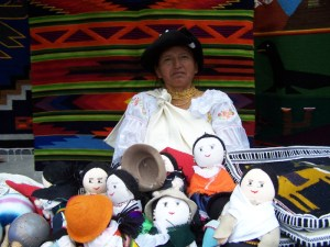 A lady from Otavalo selling products in the square Otavalo, Ecuador © Carmen Cristina Carpio Tobar