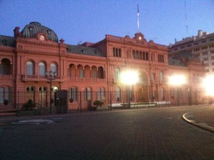 Casa rosada, is the executive mansion and office of the President of Argentina.