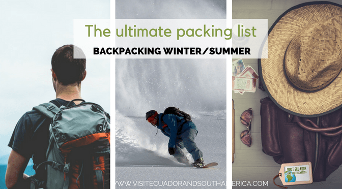 The ultimate packing list for backpacking in summer or winter