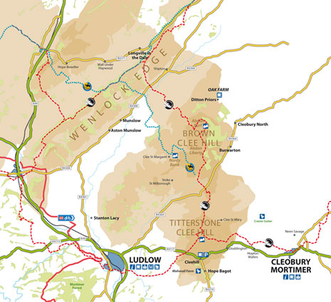 Clee Hills Map