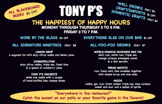 Tony P's Happy hour