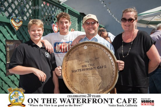 On the Waterfront Cafe's owners Stefan and Susi Bachofner with their sons Michael and Lucas.  Missing from this photo is their oldest daughter Alice.