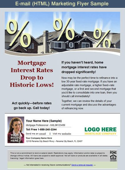 Mortgage Marketing Flyers, Loan Officer Marketing, Mortgage Flyers, Mortgage Postcards, Open ...