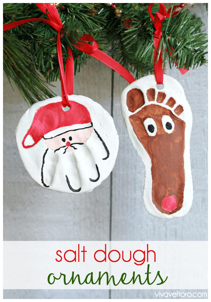 salt dough handprint footprint