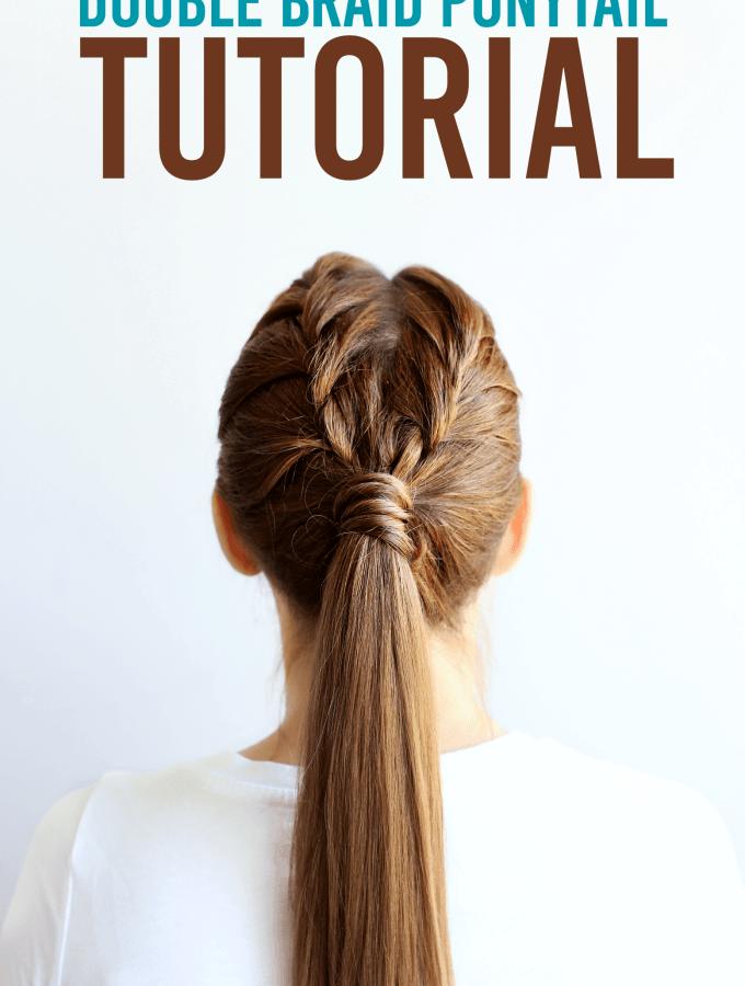 double braid ponytail