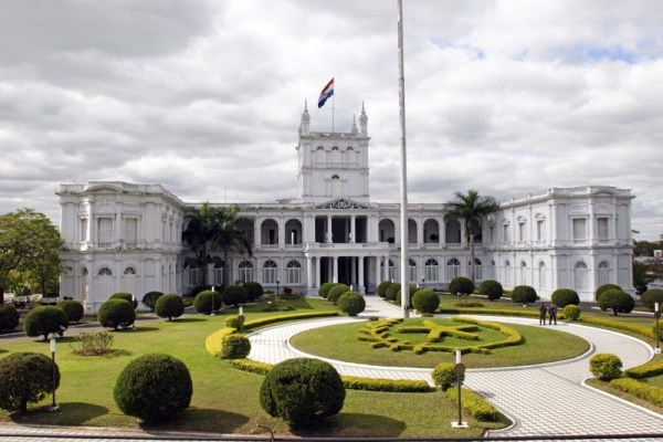 Palacio de los Lopez: House of Senate. Asuncion is the capital of Paraguay.