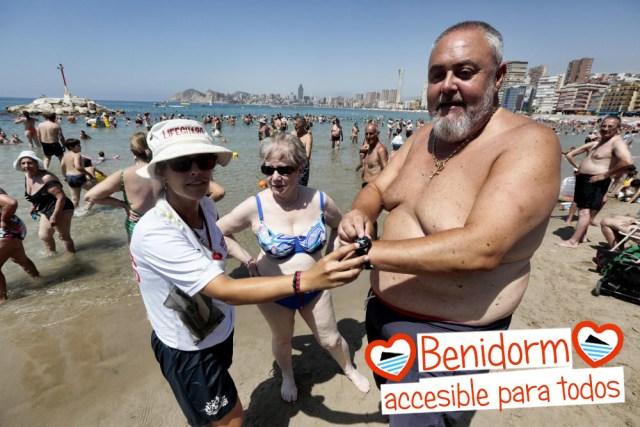 playa para ciegos en benidorm