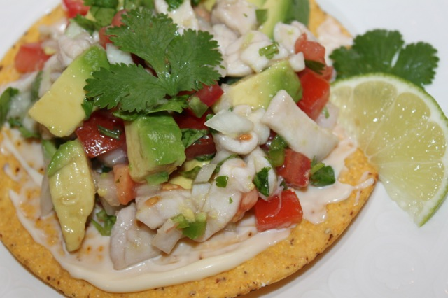 Authentic Ceviche with Fresh Wild Rock Fish Cod