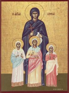 Sf. Mc. Sofia şi fiicele sale: Pistis, Elpis şi Agapi (Post)