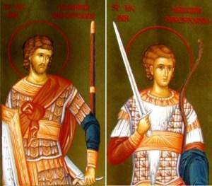 Sf. Martiri Nicandru şi Marcian; Aducerea moaştelor Sf. M. Mc. Teodor Stratilat