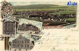 Diese Postkarte von ca. 1900 zeigt unter anderem unten links das gerade erbaute Amtsgericht.