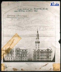 Planungsverfahren zur Erweiterung zu einem größeren Rathaus (Bild: Stadt Völklingen)