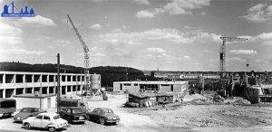 Richtfest an der neuen Realschule 1959