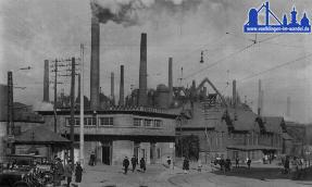 Völklinger Bahnhof im Jahre 1936