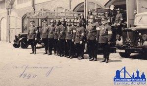 Die Feuerlöschpolizei der Stadt Völklingen im Jahre 1940 © Michael Wolf