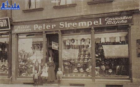 Das Kaufhaus Peter Strempel in der Poststraße © Strempel