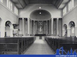 Die alte Kirche Sankt Antonius Fenne - Innenansicht (Archiv)