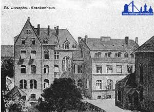 """Das St.Josephs-Krankenhaus. Bild ca. 1910 ( Quelle:""""Völklingen vormals"""")."""