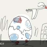 Avvistato in Italia uovo targato Francia sul punto di schiudersi