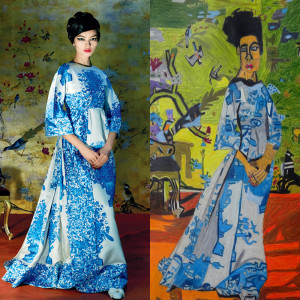 (L) Photographed by Steven Meisel, Vogue, May 2015 (R) Illustration by Helen Rae