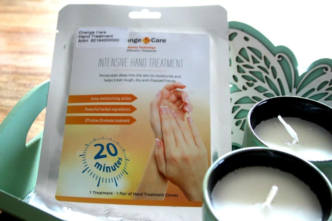 orange care, handmasker, handverzorging, review