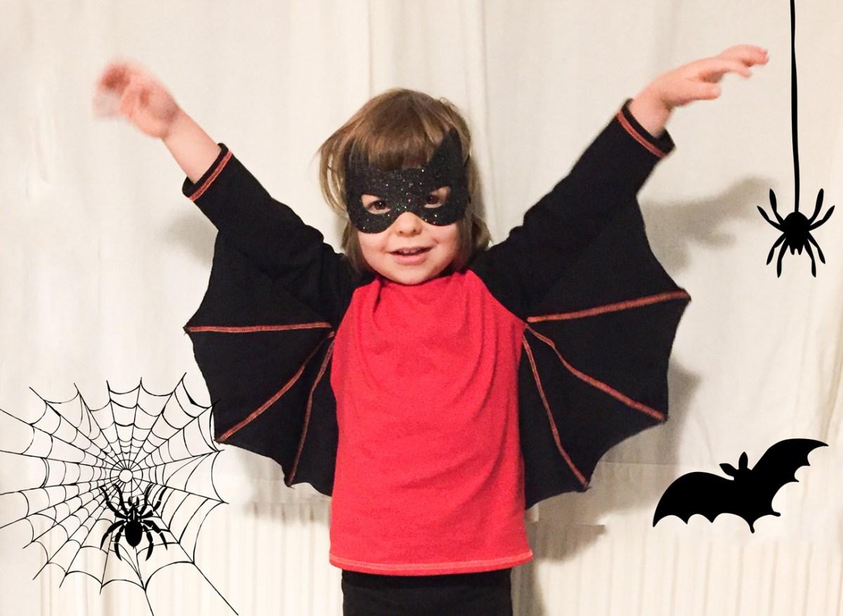 Schaurig schnelle Fledermausflügel für Halloween