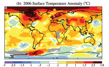 Temperatura global del año 2006
