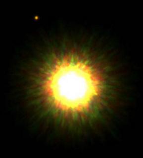 Planeta orbitando una estrella alienígena