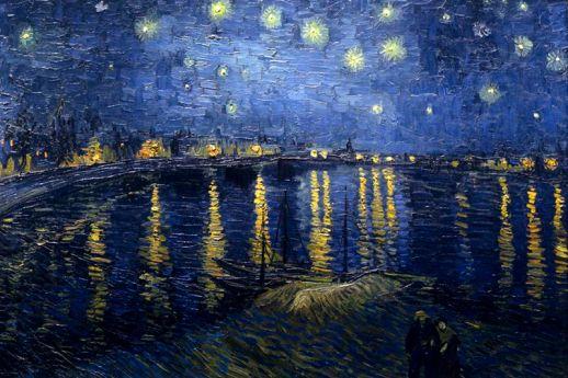 Noche estrellada sobre el Ródano . Vincent Van Gogh